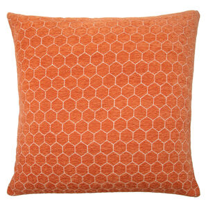 Honeycomb Cushion 58x58cm - Orange
