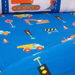 ROAD WORKS Junior Bed Fitted Sheet