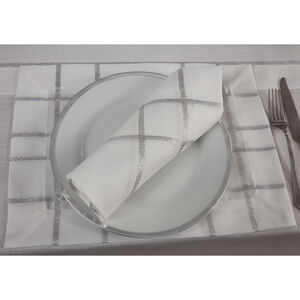 Twinkle Placemat 2 Pack - White/Silver