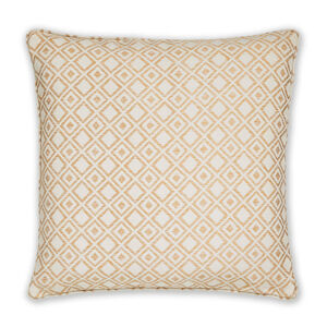 Diamond Jacquard Natural Cusion 58cm x 58cm