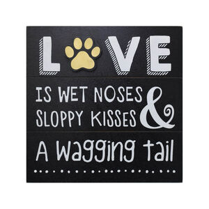 Love Is Wet Noses Block 32x30cm