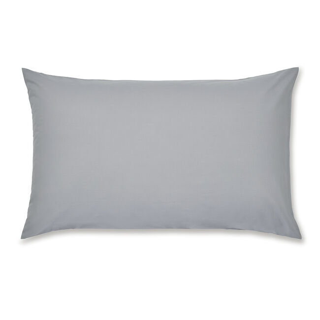 Luxury Percale Grey Housewife Pillowcase Pair