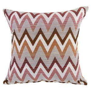 Mary Herringbone Red Cushion 45cm x 45cm