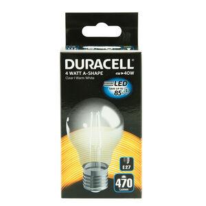DURACELL E27 LED Bulb 4W (EQ.40W) Clear None Dim