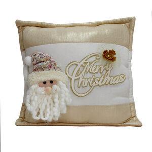 Plush Santa Cushion - Gold