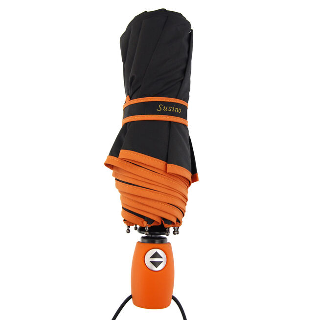Susino Automatic Orange Umbrella With Cover