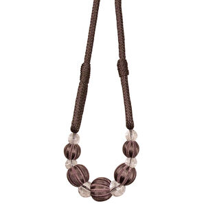 Paris Cable Ball Charcoal Tieback