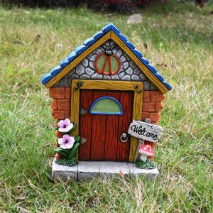 Fairy Door with Welcome Sign