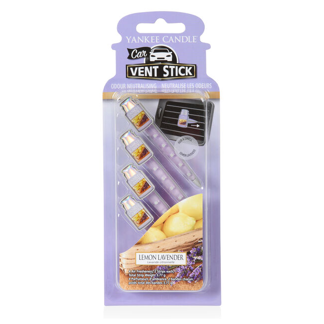 Yankee Candle Lemon Lavender Vent Stick 4 Pack