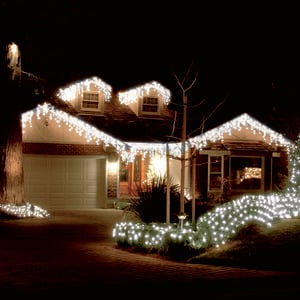 360 WHITE ICICLE LED Snowing Light