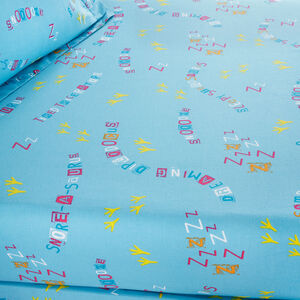 SLEEPY DINOS Junior Bed Fitted Sheet