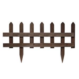 Brown Slat Wood Picket Fence