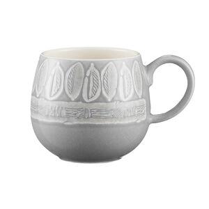 Mason Cash Impressions Grey Leaf Mug
