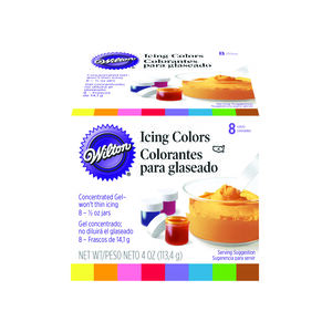 Wilton 8 Icing Colours Set