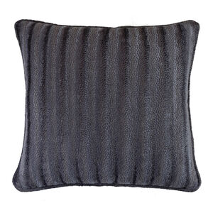 Velvet Embossed Cushion 45x45cm - Grey