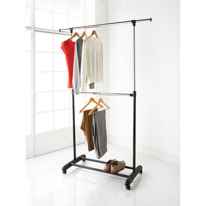 2 Tier Extendable Garment Rail
