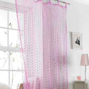 Popsical Pink Voile Curtain