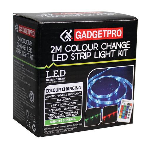 Colour Change Led Strip Light Kit 2m