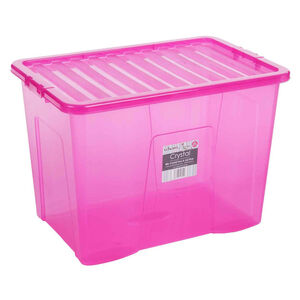 Crystal Box & Lid Pink 80L