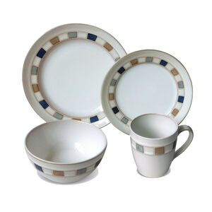 Heritage Harlequin 16 Piece Dinner Set