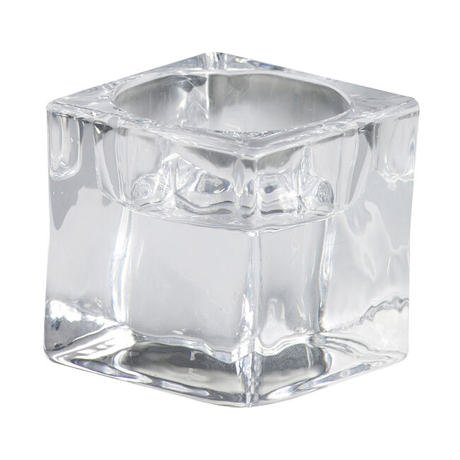 Bolsius Glass Square Tealights Holder