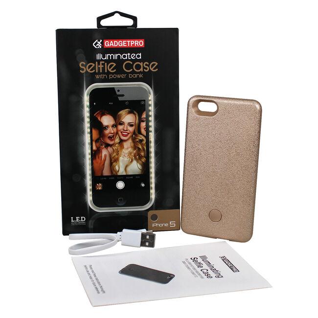 Gadgetpro Illuminated Gold Iphone 5 Selfie Case