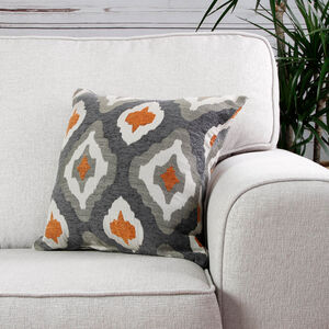 Mairead Terra Orange Printed Cushion 45cm x 45cm