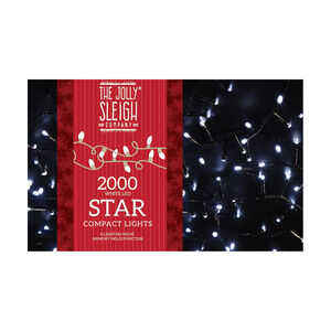 2000 White LED Star Bright Compact Lights