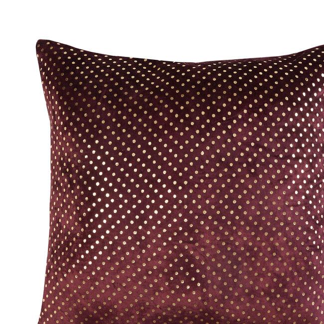 FOIL PRINT VELVET PLUM 45x45 Cushion