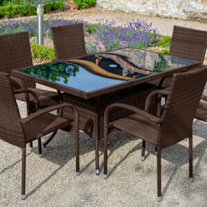 Santona Rattan Garden Furniture Set 7 Piece