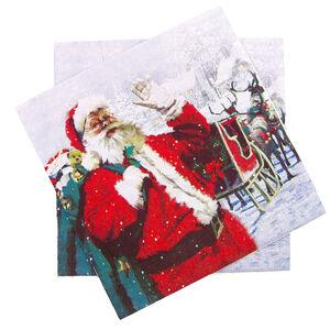 Santa And Sleigh Napkins 20 Pack