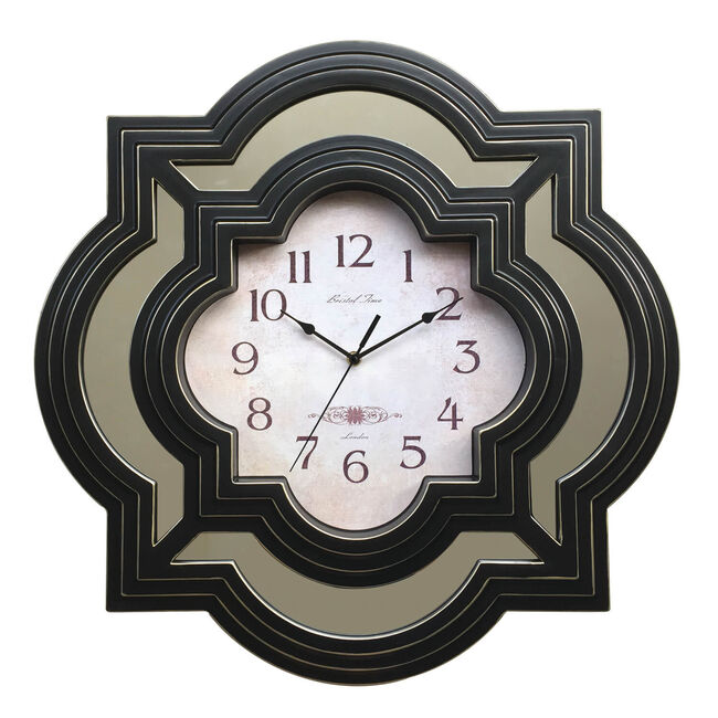 Moroccan Clock With Mirrors 23""