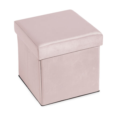Deluxe Soft Folding Ottoman - Pink