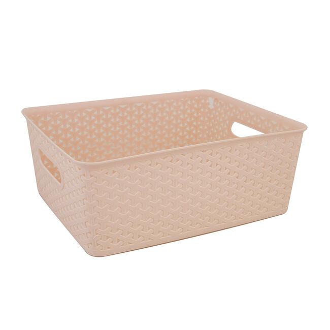 Geometric 14.5L Blush Basket