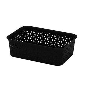 Geometric 1.5L Black Basket