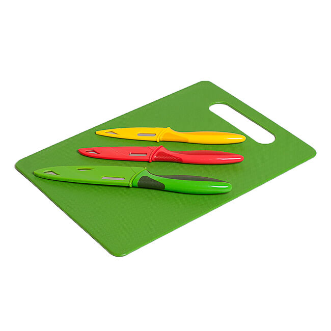 Zyliss 3 Knife Set With Chopping Board