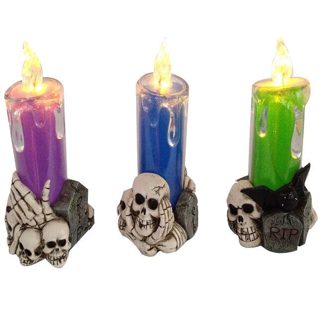 Halloween Led Skull Candle