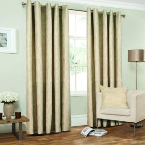 Lurex Chevron Natural Curtains