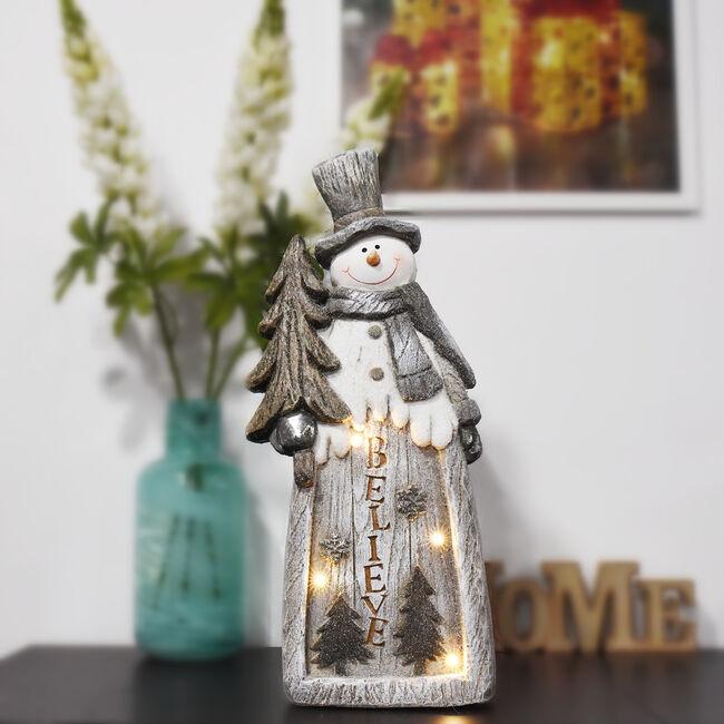 LIght Up Christmas Believe Snowman