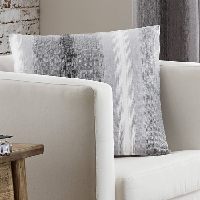 Ticking Stripe Black Cushion 45cm x 45cm