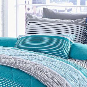 Siesta Stripe Cushion Teal 30cm x 50cm