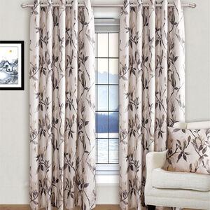 MODERN FLOWER NATURAL 66x72 Curtain