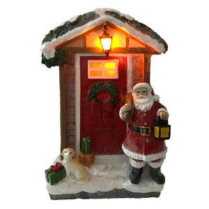 Light-up Santa at Doorway