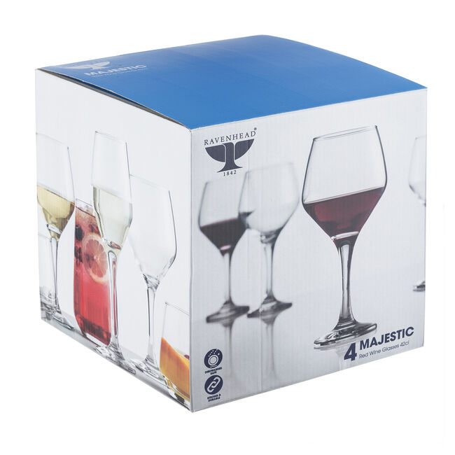 Majestic Red Wine Glasses - 4 Pack