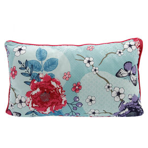 Floral Admiration Duck Egg Cushion 30x50cm