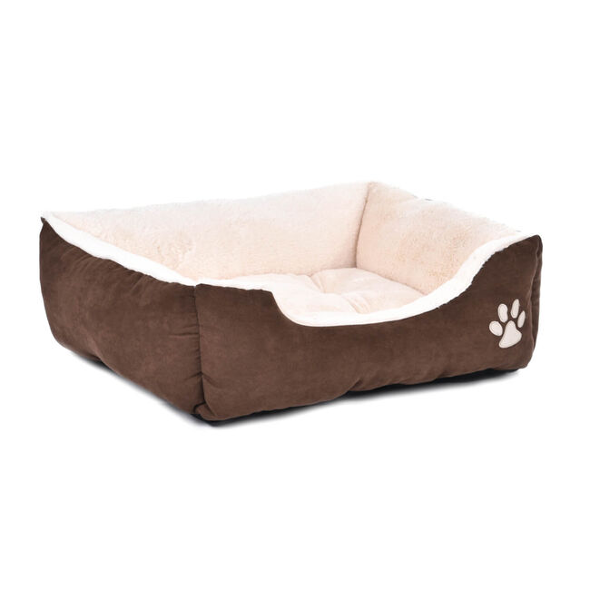 Brown & Beige Pet Bed Small