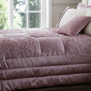 Quilted Rose Blush Bedspread