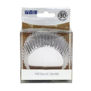 PME Metallic CupCake Cases 30 Pack - Silver