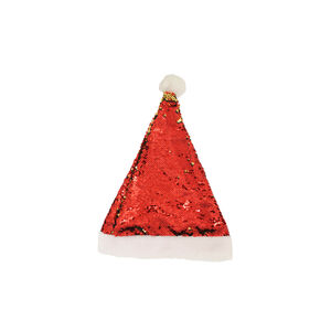 Sequin Xmas Hat - Red