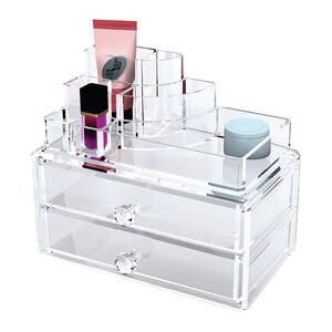 Cosmetic Organiser 2 Drawer With Display Top